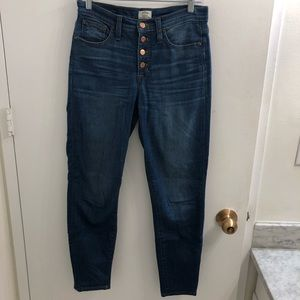 JCrew High Rise Skinny Button Fly Jeans
